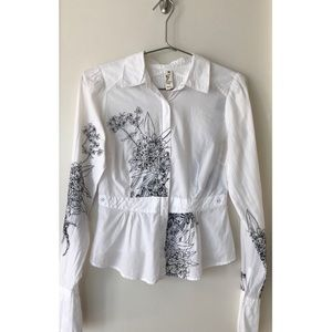 Floreat Anthropologie Floral Embroidered Top